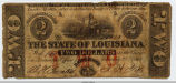 1862 Louisiana Confederate Note