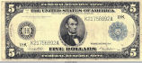 1914 series $5 Federal Reserve Note