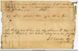 Lyne Taliaferro Barret Receipt, December 31, 1864