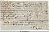 Quartermaster Store Receipt, January 15, 1865