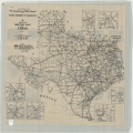 Texas, Railroad and County Map, 1912