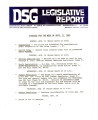 DSG legislative report, 1980-04-21 Report and Supplement