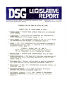 DSG legislative report, 1980-04-28 Report and Supplement