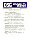 DSG legislative report, 1980-03-24 Report and Supplements