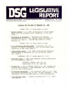 DSG legislative report, 1980-02-25 Report and Supplement
