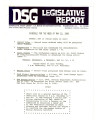 DSG legislative report, 1980-05-12 Report and Supplement