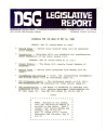 DSG legislative report, 1980-05-19 Reports and Supplement