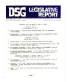 DSG legislative report, 1980-06-09 Report and Supplements