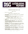 DSG legislative report, 1980-06-02 Report and Supplements
