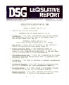 DSG legislative report, 1980-05-26 Report and Supplement
