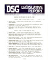 DSG legislative report, 1980-06-23 Report and Supplement