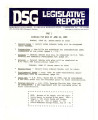 DSG legislative report, 1980-06-16 Reports and Supplements