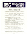 DSG legislative report, 1980-07-28 Report and Supplements