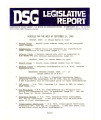 DSG legislative report, 1980-09-15 Report and Supplements