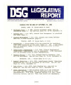 DSG legislative report, 1980-09-29 Report and Supplements