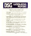 DSG legislative report, 1980-09-22 Report and Supplement