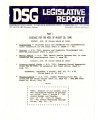 DSG legislative report, 1980-08-18 Reports and Supplement