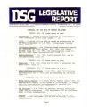 DSG legislative report, 1980-08-25 Report and Supplement
