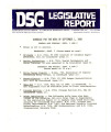 DSG legislative report, 1980-09-01 Report and Supplement