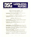 DSG legislative report, 1980-12-01 Report and Supplements