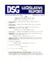 DSG legislative report, 1981-05-18 Report and Supplement