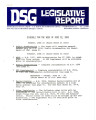 DSG legislative report, 1981-06-22 Report and Supplements