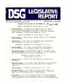 DSG legislative report, 1981-09-28 Report and Supplement