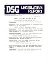 DSG legislative report, 1981-10-26 Report and Supplement