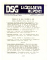 DSG legislative report, 1981-12-14 Report and Supplements