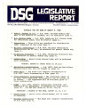 DSG legislative report, 1982-08-09 Report and Supplements