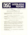 DSG legislative report, 1981-11-16 Report and Supplements