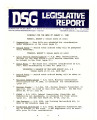 DSG legislative report, 1982-08-02 Report and Supplement