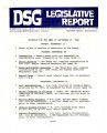 DSG legislative report, 1982-09-27 Report and Supplements