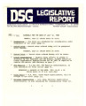 DSG legislative report, 1982-07-12 Report and Supplements