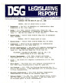DSG legislative report, 1982-07-26 Report and Supplement