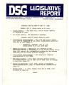 DSG legislative report, 1982-05-17 Report and Supplements