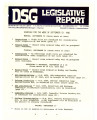 DSG legislative report, 1982-09-13 Report and Supplements