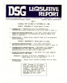 DSG legislative report, 1982-09-20 Reports and Supplements