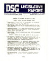 DSG legislative report, 1982-08-16 Report and Supplements