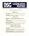 DSG legislative report, 1982-05-10 Report and Supplement