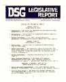 DSG legislative report, 1982-06-21 Report and Supplement