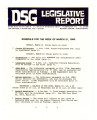 DSG legislative report, 1983-03-21 Report and Supplements