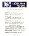 DSG legislative report, 1983-05-23 Report and Supplement