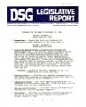 DSG legislative report, 1982-12-13 Report and Supplements