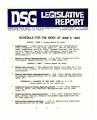 DSG legislative report, 1983-06-06 Report and Supplement