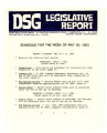 DSG legislative report, 1983-05-30 Report and Supplements