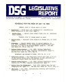 DSG legislative report, 1983-07-18 Report and Supplement
