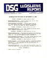 DSG legislative report, 1983-09-12 Report and Supplement