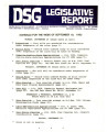 DSG legislative reportl, 1983-09-19 Report and Supplements