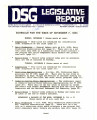 DSG legislative report, 1983-11-07 Report and Supplements
